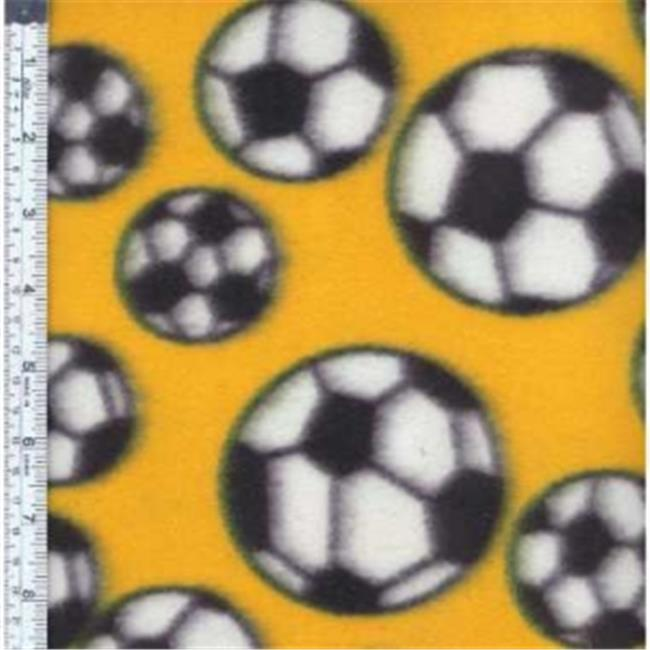 Textile Creations MFP-300-02 Sport Fleece, Soccer Balls Red