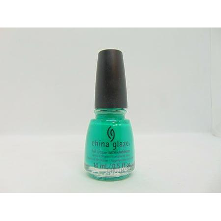 China Glaze Nail Lacquer Turned up Turquoise, 0.5 fl oz