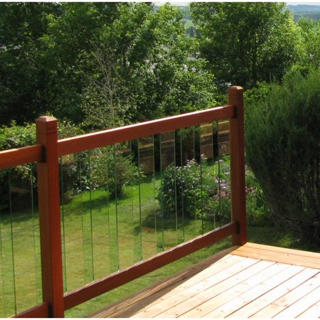 Vista Railing Systems Inc 3.5 ft. x 6 ft. Clearview Cedar Straight Deck Railing Panel