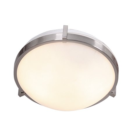 Design House 570937 Eastport Classic Contemporary 2-Light Indoor Dimmable Flush Mount Ceiling Light with Frosted Glass for Kitchen Dining Room Foyer Entryway Bedroom, Satin Nickel Contemporary Ceiling Lighting