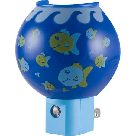 Jasco Fish Bowl LED Night Light, Dusk to Dawn, Plug-in, 13351