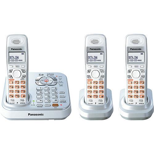 Panasonic KX-TG9343S 4-Handset DECT Talking Caller ID with Dual Keypad Telephone