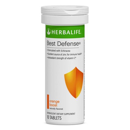 Best Defense 10 Effervescent Tablets Naturally Flavored Immune System Booster with Echinacea & Vitamin