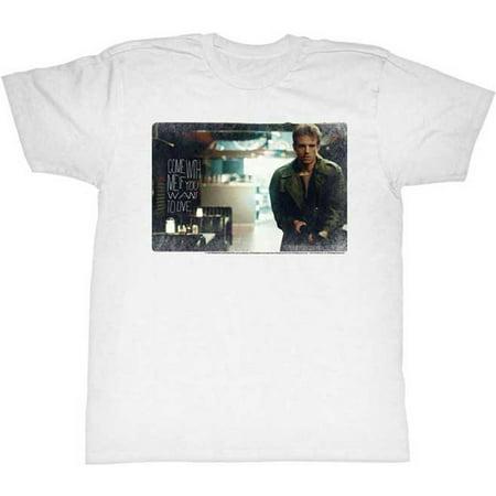 Terminator Mens  Kyle T Shirt White