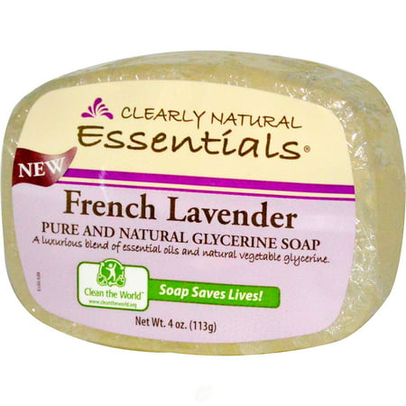 Clearly Natural Glycerine Bar Soap French Lavender 4 Ounce, Pack of (1 Ounce Glycerine)