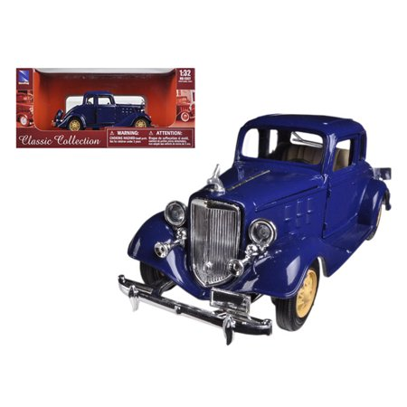 Southern Passenger Car - 1933 Chevrolet 2 Passenger 5 Window Coupe Blue 1/32 Diecast Model Car by New Ray