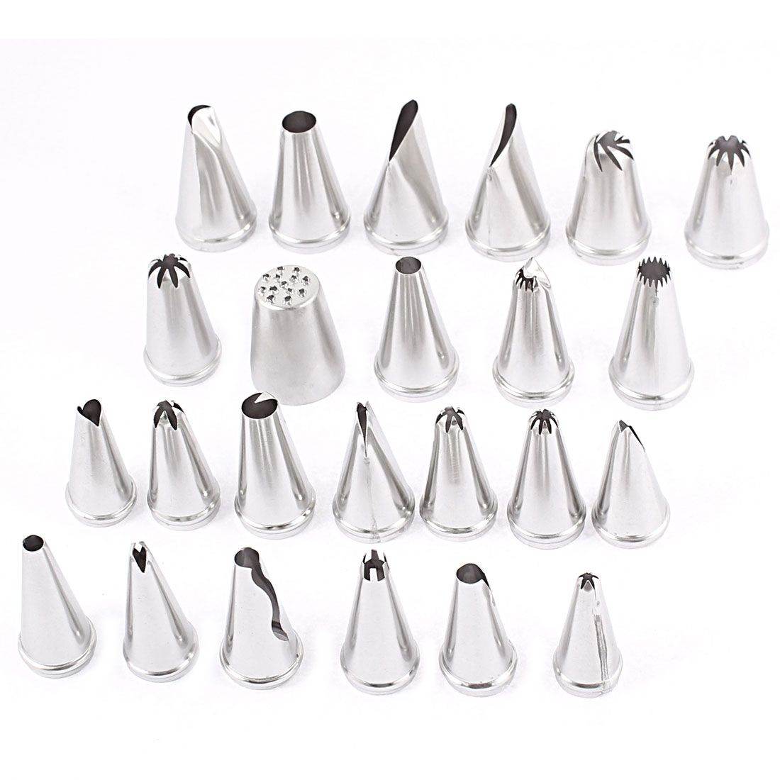 Unique Bargains Pastry Cake Decorating Icing Piping Tips Nozzles 24 in 1 by