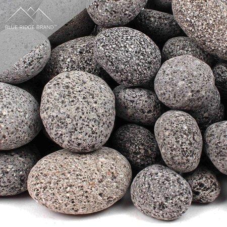 Blue Ridge Brand Lava Rock - Tumbled Lava Stones for Fire Pit - Black/Gray  Volcanic Pebbles - Fire Glass Substitute - Landscaping Rocks - Walmart.com - Blue Ridge Brand Lava Rock - Tumbled Lava Stones For Fire Pit
