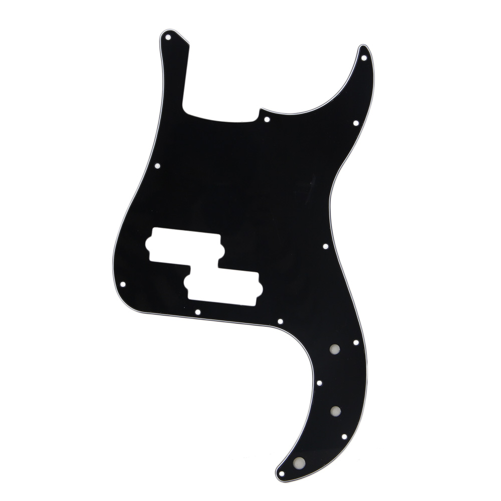 BQLZR Black 3 Ply PVC P Bass Pickguard Scratch Plate for PB Electric Bass Guitar 13 Screw... by