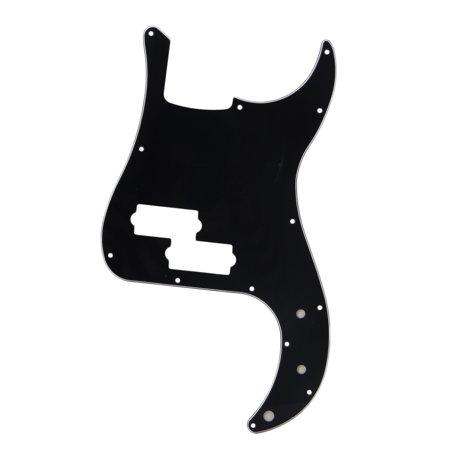 (BQLZR Black 3 Ply PVC P Bass Pickguard Scratch Plate for PB Electric Bass Guitar 13 Screw Holes)