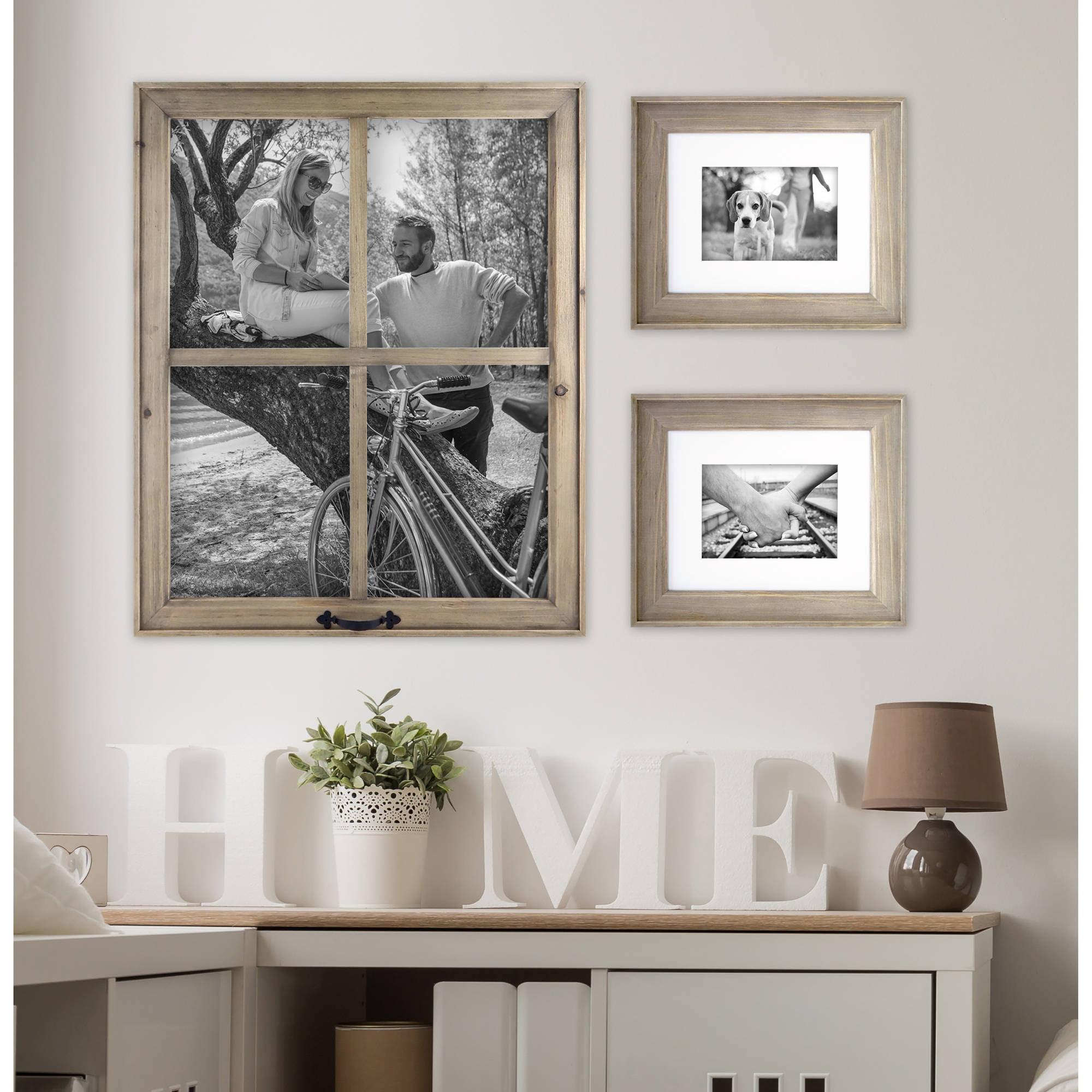 better homes gardens 4 open windowpane frame walmartcom - Window Pane Picture Frames