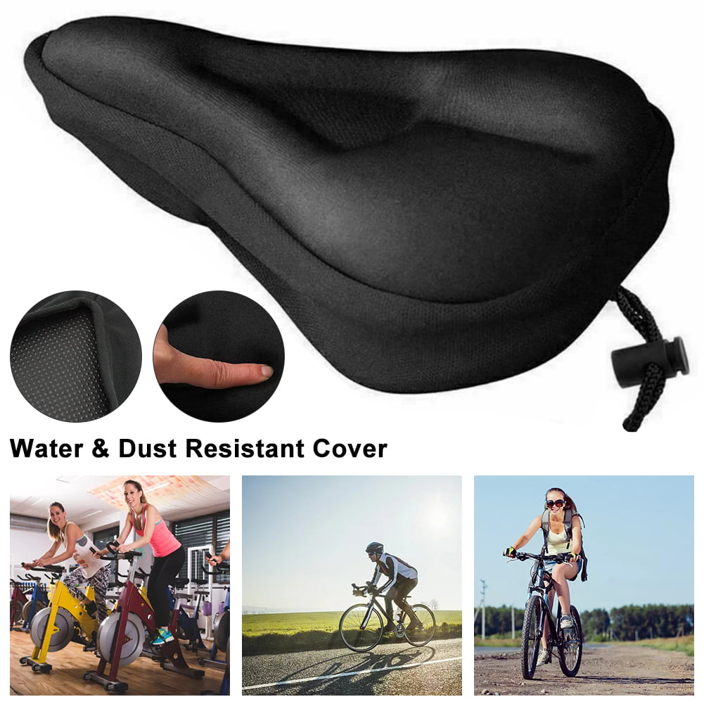 Comfort Extra Wide Large Mountain Bike Saddle Cover Cushion Seat Padded Pad