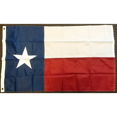 Texas State Double Sided Nylon Embroidered 3x5 Foot Flag Lone Star US USA -
