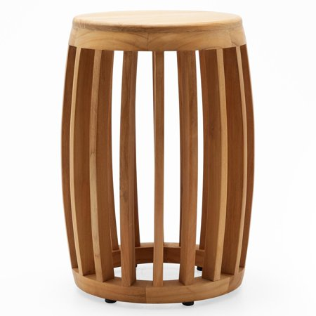 Sensational Modrn Teak Wood Slat Garden Stool Ibusinesslaw Wood Chair Design Ideas Ibusinesslaworg