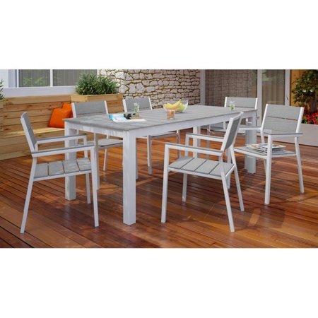 maine 7 piece outdoor patio dining set multiple colors