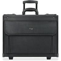 Solo USLB784 US Luggage Ballistic Rolling Computer Catalog Case, Black