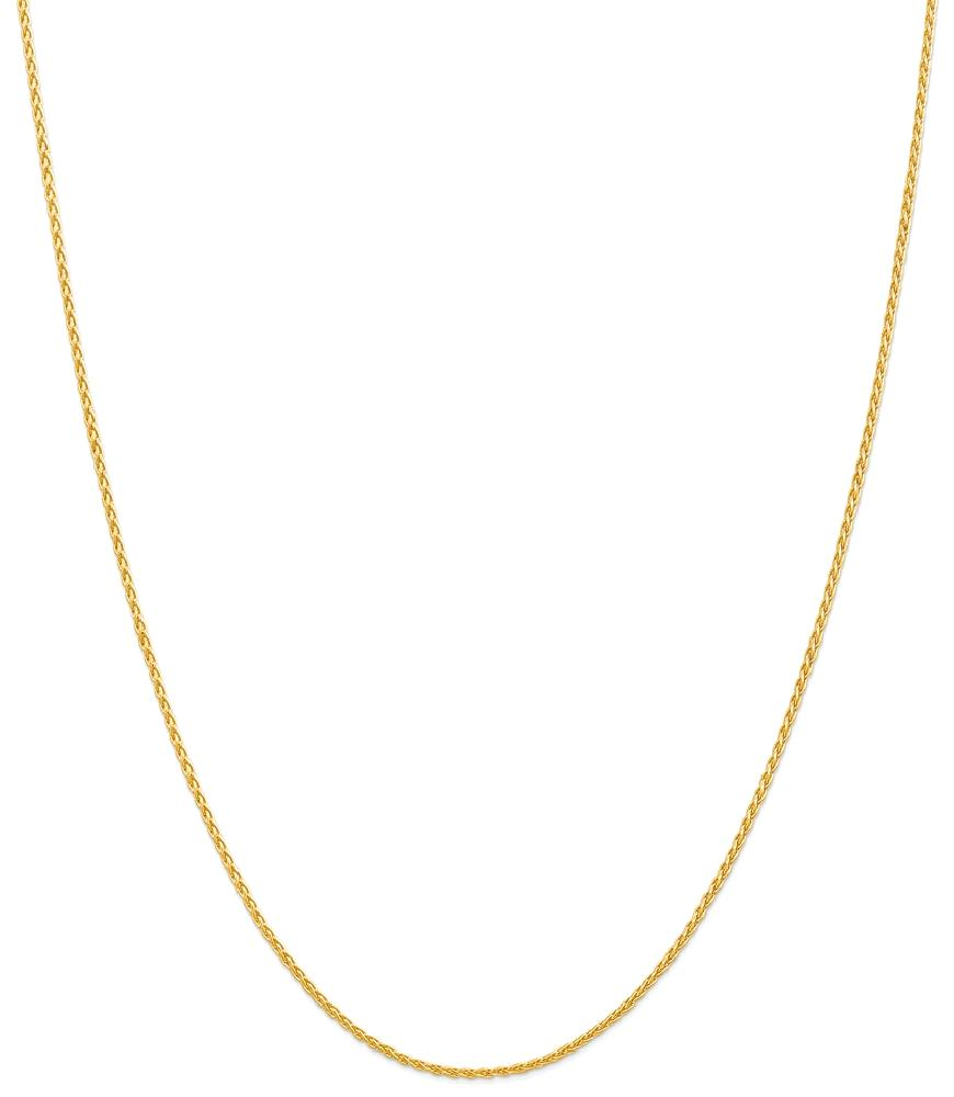 ICE CARATS 14kt Yellow Gold 1.5mm Parisian Link Wheat Chain Necklace 30 Inch Pendant Charm Spiga Fine Jewelry Ideal... by IceCarats Designer Jewelry Gift USA