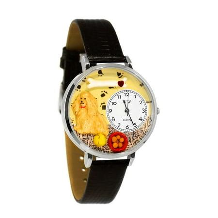 Cocker Spaniel Watch in Silver (Large)