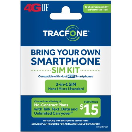 Tracfone Bring Your Own Phone Sim Kit   T Mobile Gsm Compatible