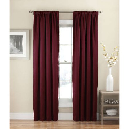 Eclipse Solid Thermapanel Room Darkening Curtain Walmartcom
