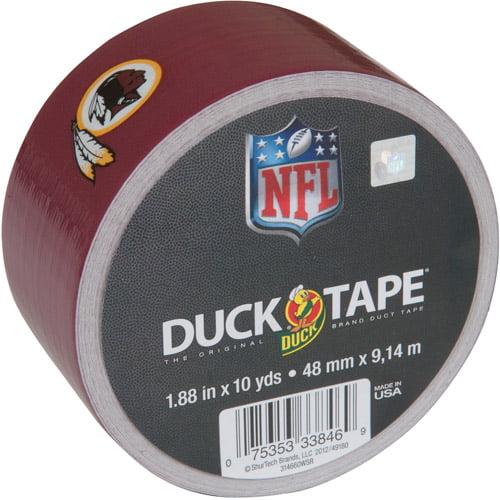 "Duck Brand Duct Tape, NFL Duck Tape, 1.88"" x 10 yard, Washington Redskins"