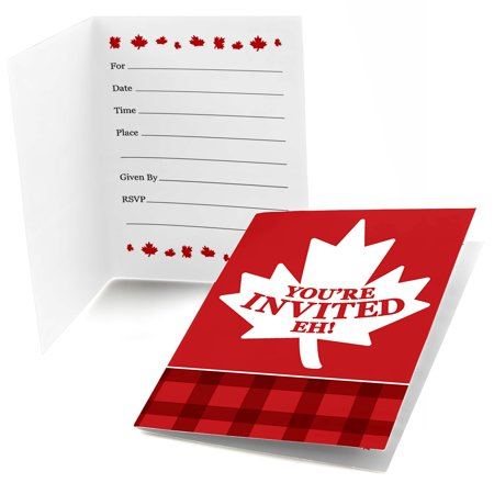 Canada Day - Fill In Canadian Party Invitations (8 count)