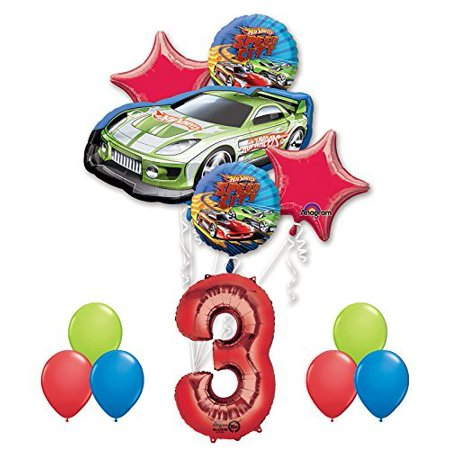 Hot Wheels 3rd Birthday Party Supplies And Balloon Decorations