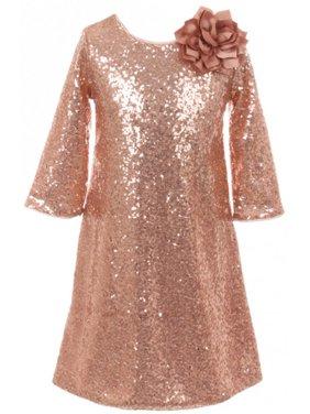 d505dacd6931 Pink Little Girls Dresses   Rompers - Walmart.com