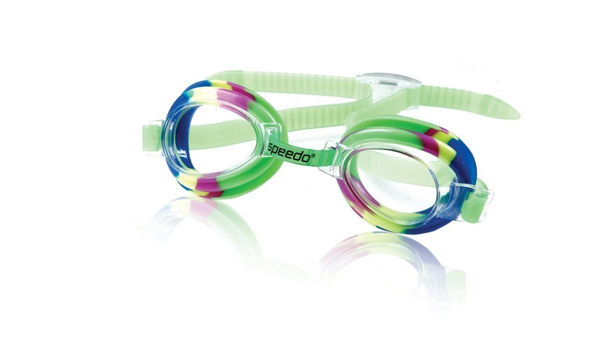 Speedo Kids Tye-Dye Splasher Goggle Kids Swim Goggle Kelly Green by Speedo