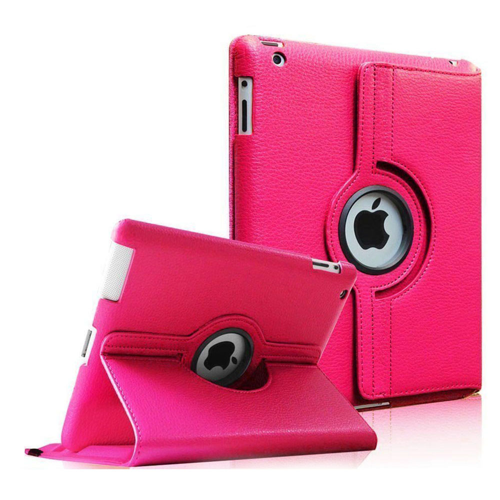 Fintie Apple iPad 2/3/4 Case - 360 Degree Rotating Stand Smart Case Cover (Auto Wake/Sleep Feature), Magenta