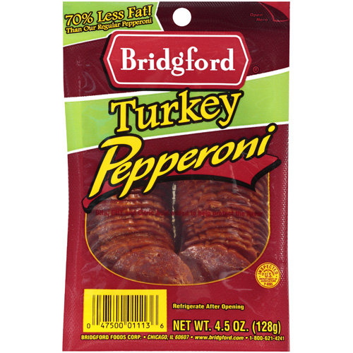 Bridgford Turkey Pepperoni, 4.5 oz