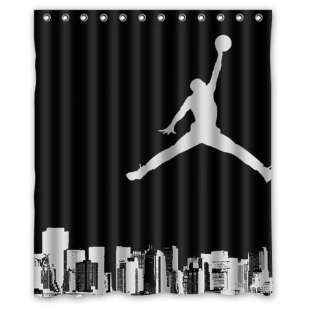 Ganma Michael Jordan flying Shower Curtain Polyester Fabric Bathroom Shower Curtain 60x72 inches (Fabric Michaels)