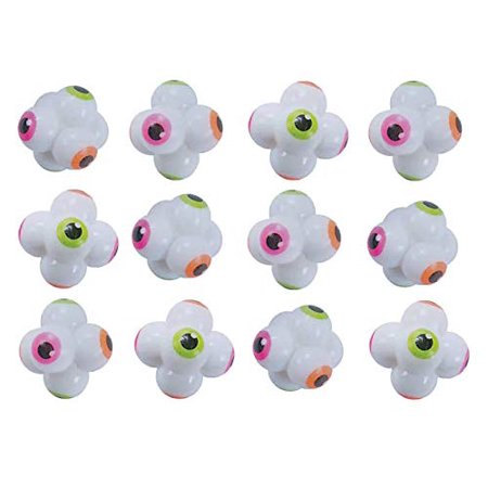 12 Eyeball Bouncy Balls - Toys for Ophthalmologists Optometrists Doctors Bulk Small Novelty Toy Prize Assortment Spooky Halloween Party Gifts - Bouncy Balls Bulk
