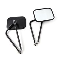 Side View Mirrors Door Off Mirror Square Doors Mirrors 4x4 Side Qucik Release Mirrors Fit for Jeep Wrangler CJ YJ TJ JK one pair