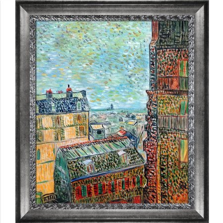 La Pastiche View Of Paris From Vincents Room In The Rue Lepic  1887 By Vincent Van Gogh Framed Painting Print