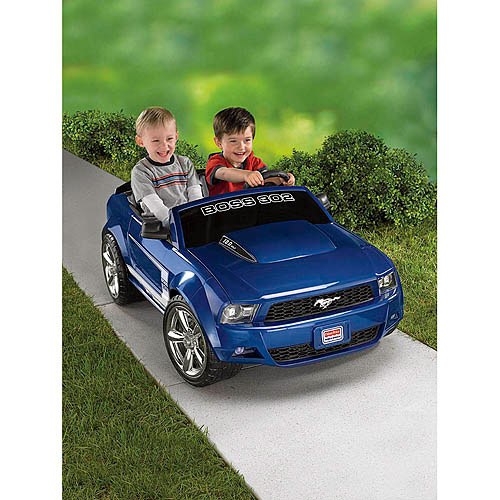 Fisher-Price Power Wheels Boys' Boss Mustang 12-Volt Battery-Powered Ride-On