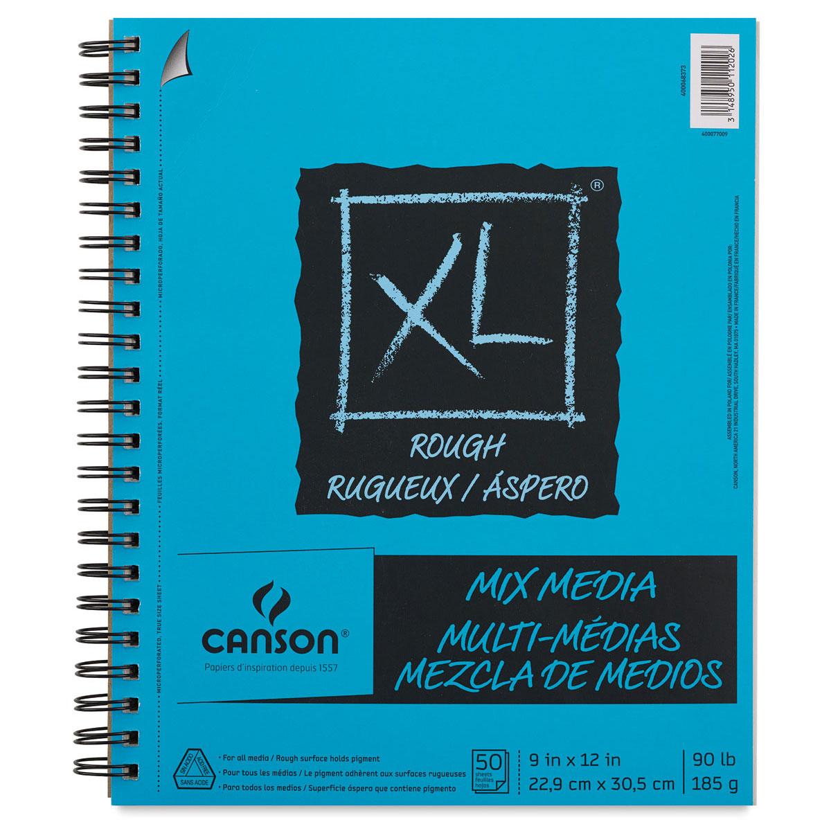 """Canson XL Mix Media Art Pad, 9""""x12"""" Mixed Media, 50 Sheets"""