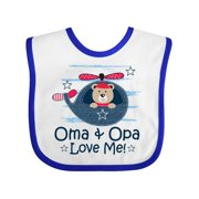 Oma and Opa Love Me Grandson Baby Bib