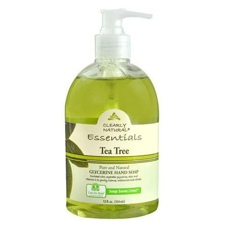 Clearly Natural Essentials Hand Soap, Tea Tree, 12 Fl Oz (Jason Tea Tree Hand Soap)
