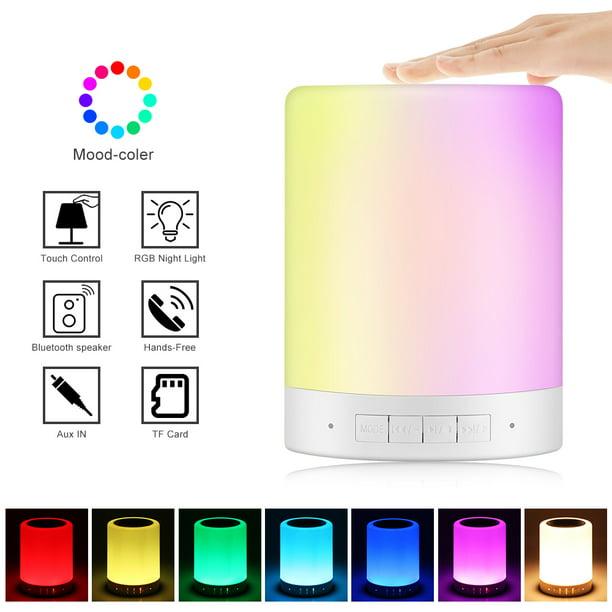 Night Light Bluetooth Speaker Portable Wireless Bluetooth Touch Control
