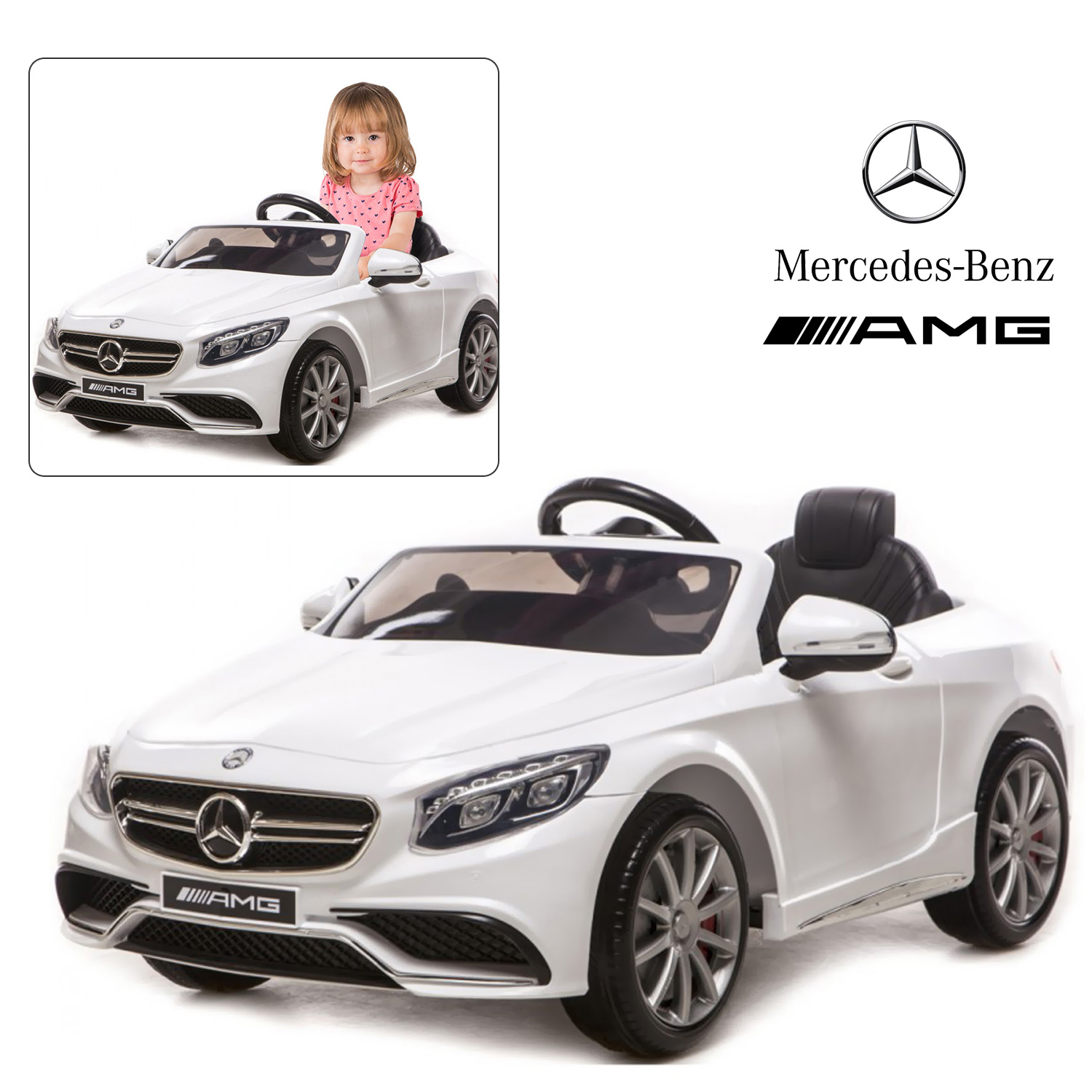 Official Licensed Mercedes Benz AMG S63 Kids Ride On Car & Bentley GTC & Land Rover Evoque Baby Car Toy