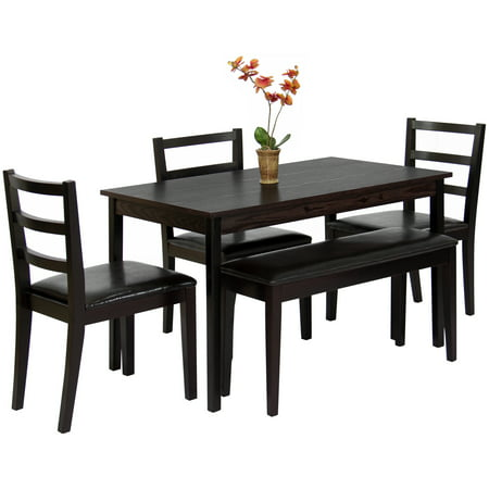 Best Choice Products 5 Piece Wood Dining Table Set W Bench
