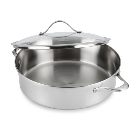 Calphalon Contemporary Stainless 5-Quart Sauteuse with Cover,