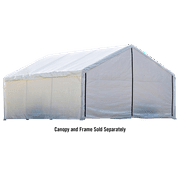Canopy Enclosure Kit 18 x 30 ft. White. Canopy Cover and Frame Sold Separately.