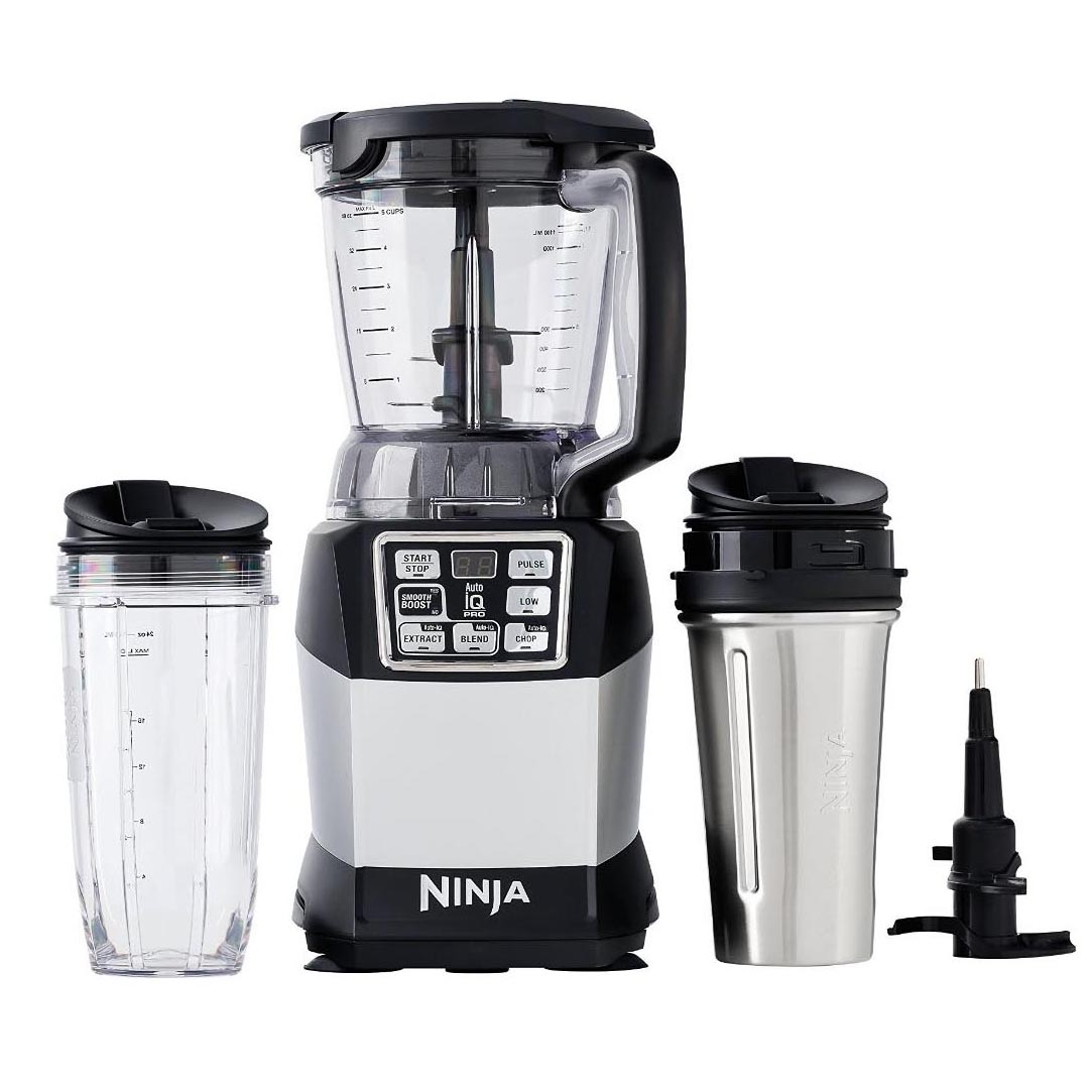 Nutri Ninja Auto IQ Compact Blender w/ Food Processor Bowl + To-Go Cups |