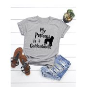 6df9683f20e DBoard Womens Letter Printed Tee Shirts Dog Graphic Funny Cute Summer Tops  Image 2 of 6