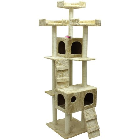 Aleko 73 Cat Tree Condo Scratching Post Pet Furniture