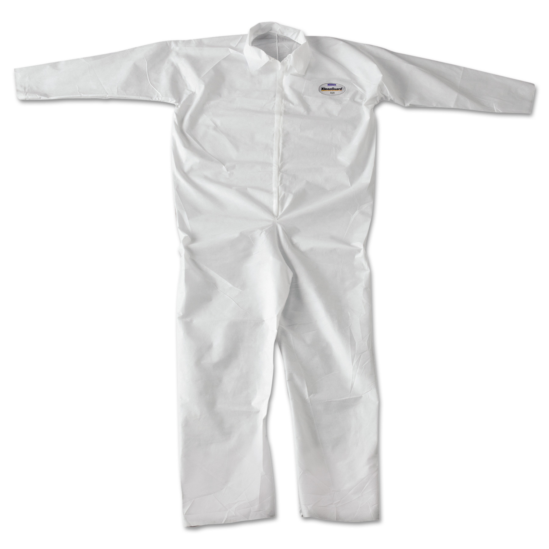 KleenGuard A20 Breathable Particle-Pro Coveralls, Zip, 2XL, White, 24 Per Carton by Kimberly Clark
