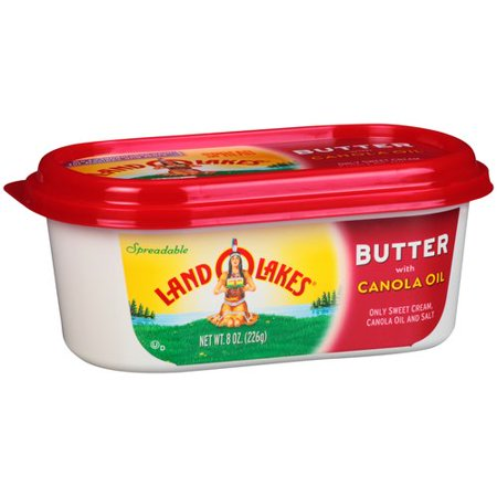 Land O Lakes Spreadable Butter with Canola Oil, 8 oz ...