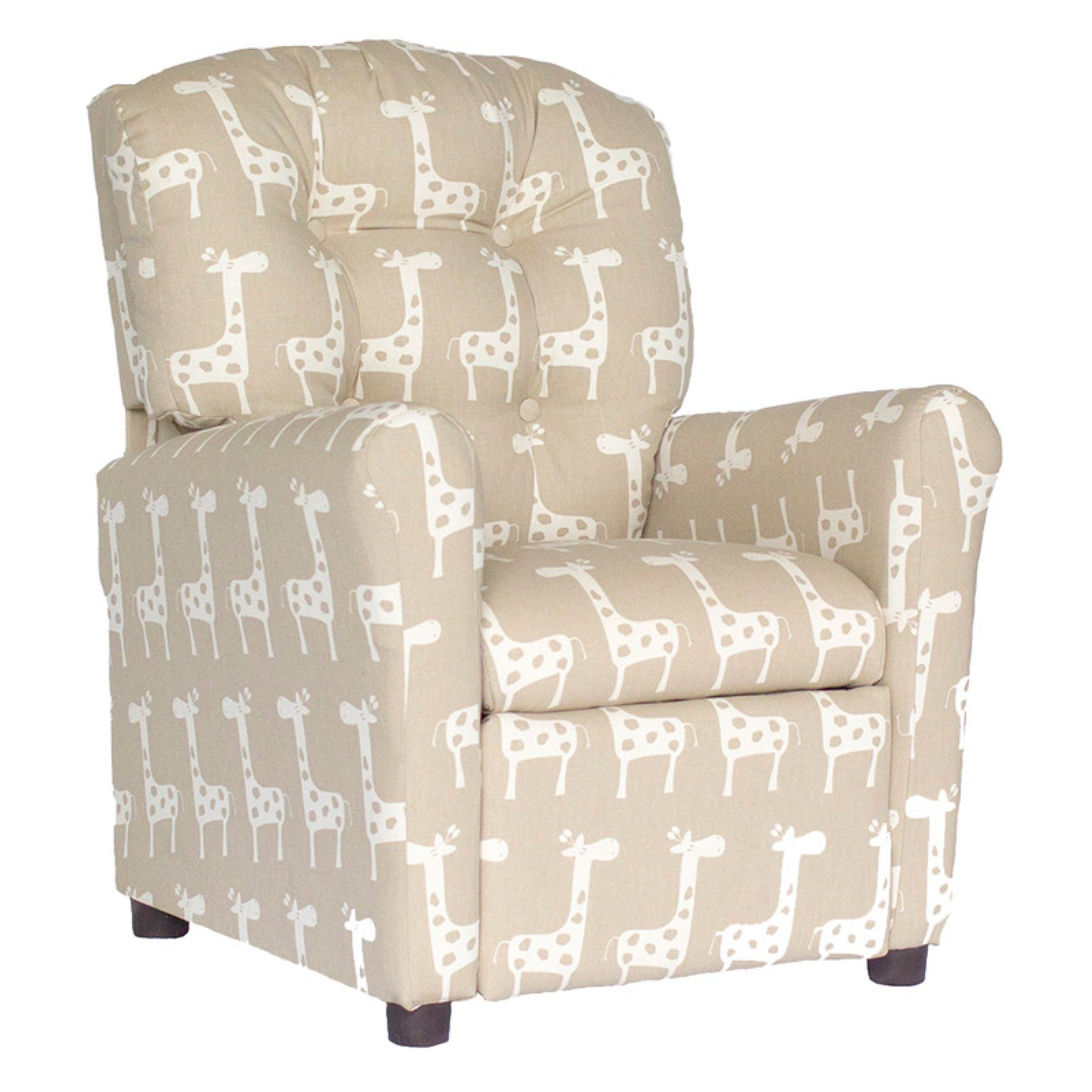 Brazil Furniture Stretch 4 Button Child Recliner - Maple